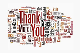 Thank You Card with Thank You in many different languages