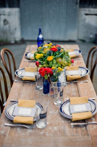 Labor Day party ideas rustic table