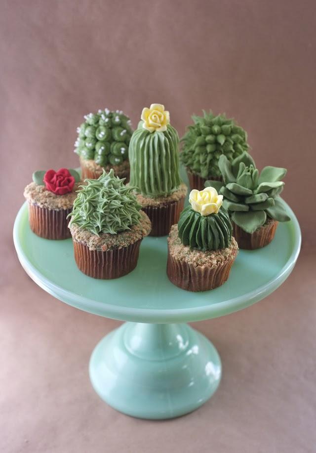 Cupcakes mini plantas