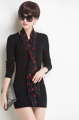 New Design Flower Pattern Christmas Women Fashion Dress Sweater Turtleneck Tunic Autumn Winter Pullover Knitwear