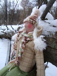 Шарф и шапка для куклы