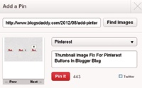 Thumbnail Image Fix For Pinterest Buttons In Blogger