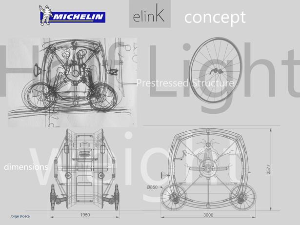 eLink: o carro elétrico conceito da Michelin