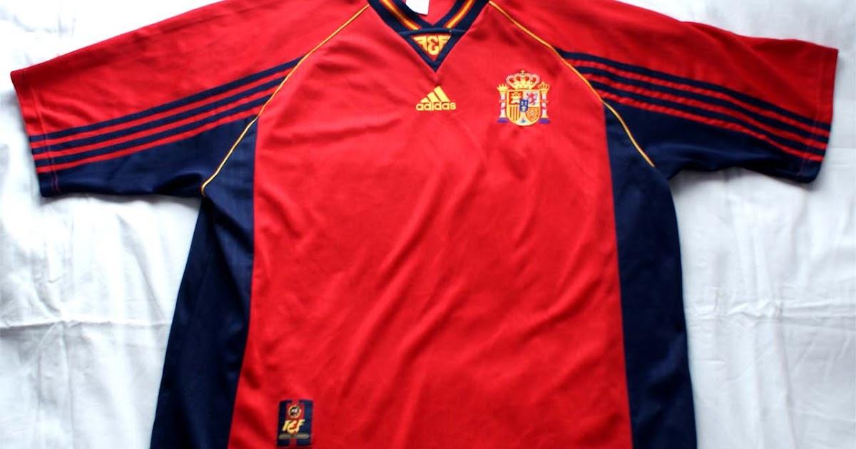 Camisetas a pesetas: 1º Camiseta España 1998 Mundial