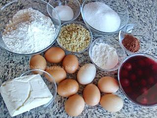Prajitura cu blat din nuca si visine - cu crema ingrediente reteta