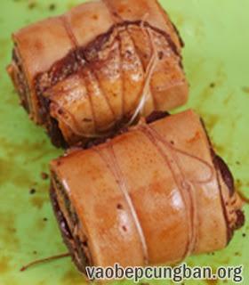 Cách làm thịt heo cuộn hấp thơm ngon đổi vị4