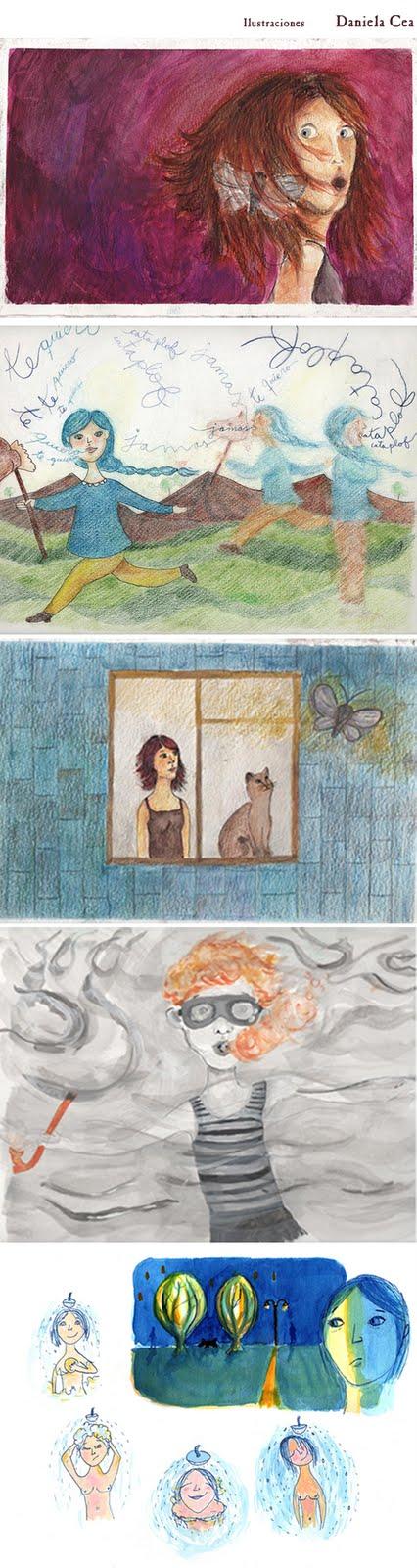 Ilustraciones de Daniela Cea, año 2011