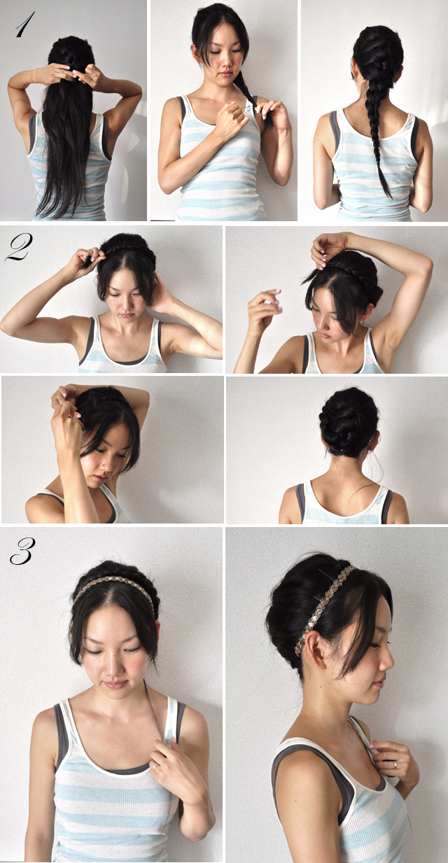 Milkmaid braid Hairstyle with just one braid tutorial 