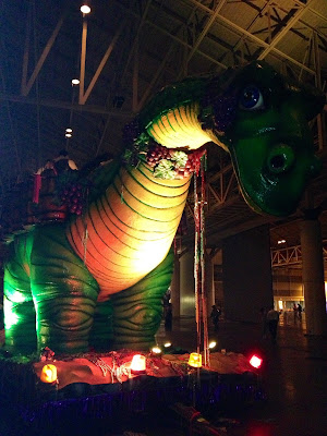 Bacchasaurus float at Mardi Gras Bacchus Ball 2013
