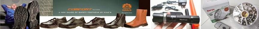 Rajanya barang murah, pusat sepatu safety atau safety shoes king's dan aneka barang berkualitas