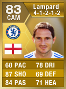 Frank Lampard 83 - FIFA 13 Ultimate Team Card - FUT 13