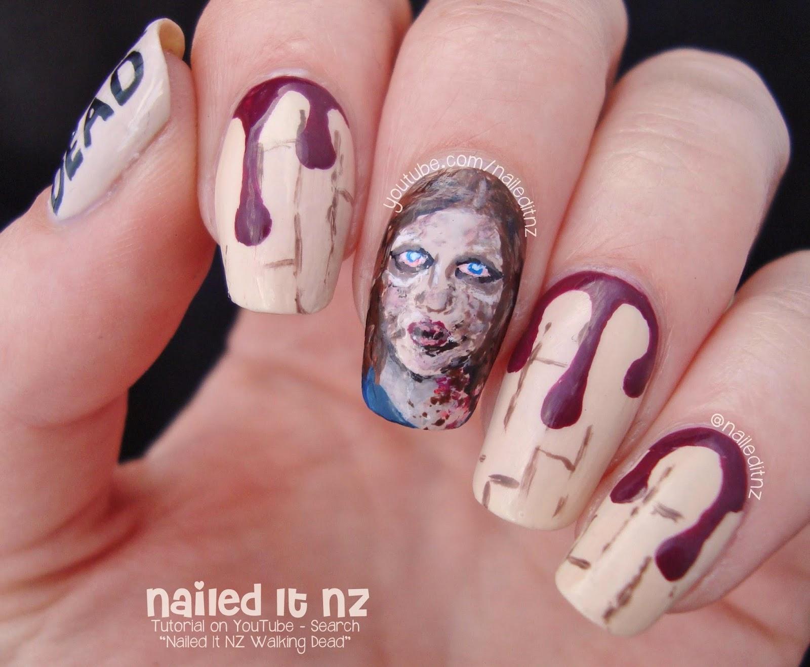 The Walking Dead Nail Art   Zombie Sophia
