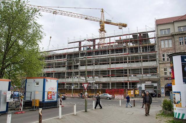 Baustelle Erweiterung AUFBAU HAUS durch den Neubau Prinzenstraße 84, 10969 Berlin, Moritzplatz, Oranienstraße, 11.04.2014