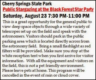 8-23 Cherry Springs State Park