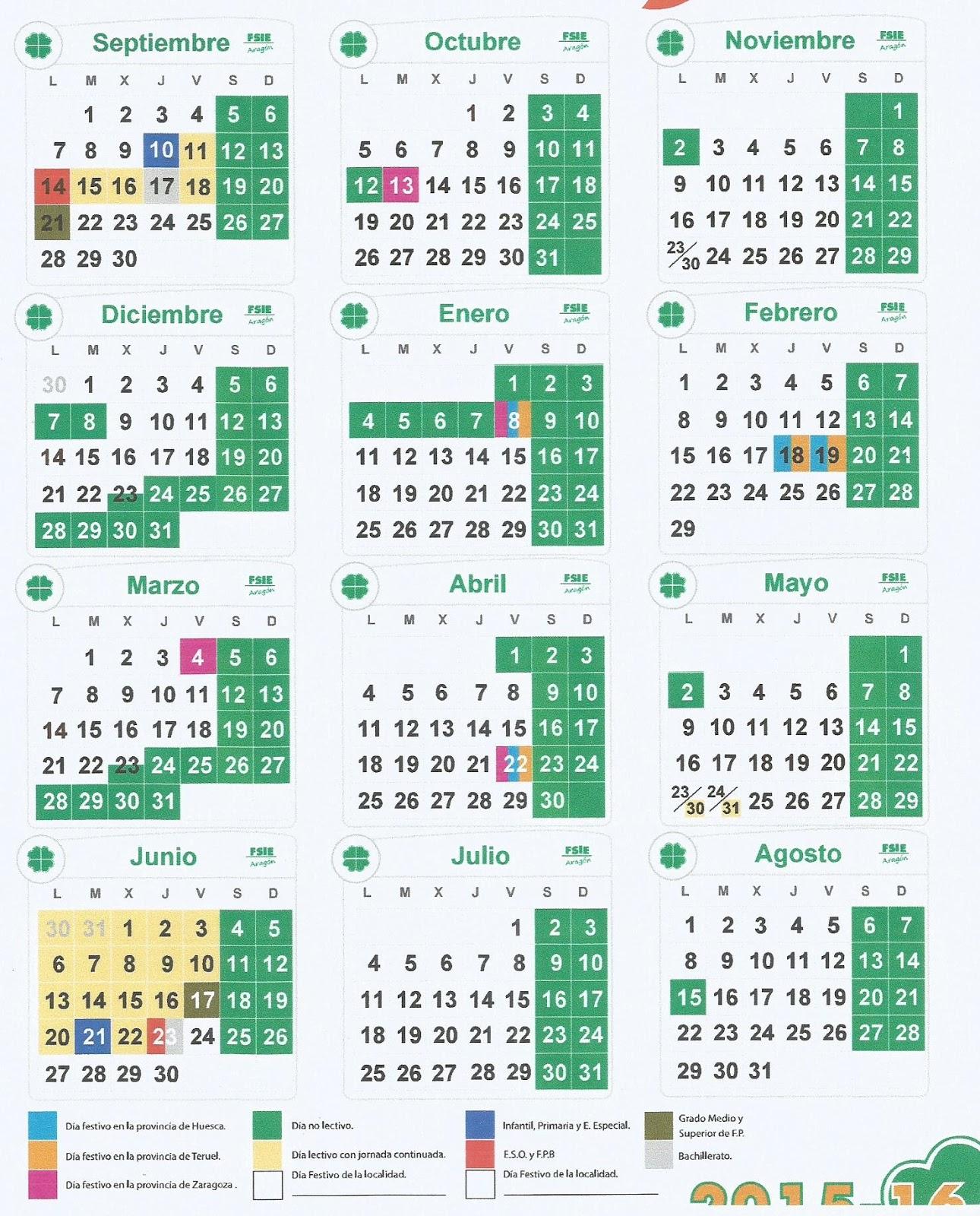 ... SANTA ANA * SABI: CALENDARIO ESCOLAR 2015-16. Próximo Curso Escolar