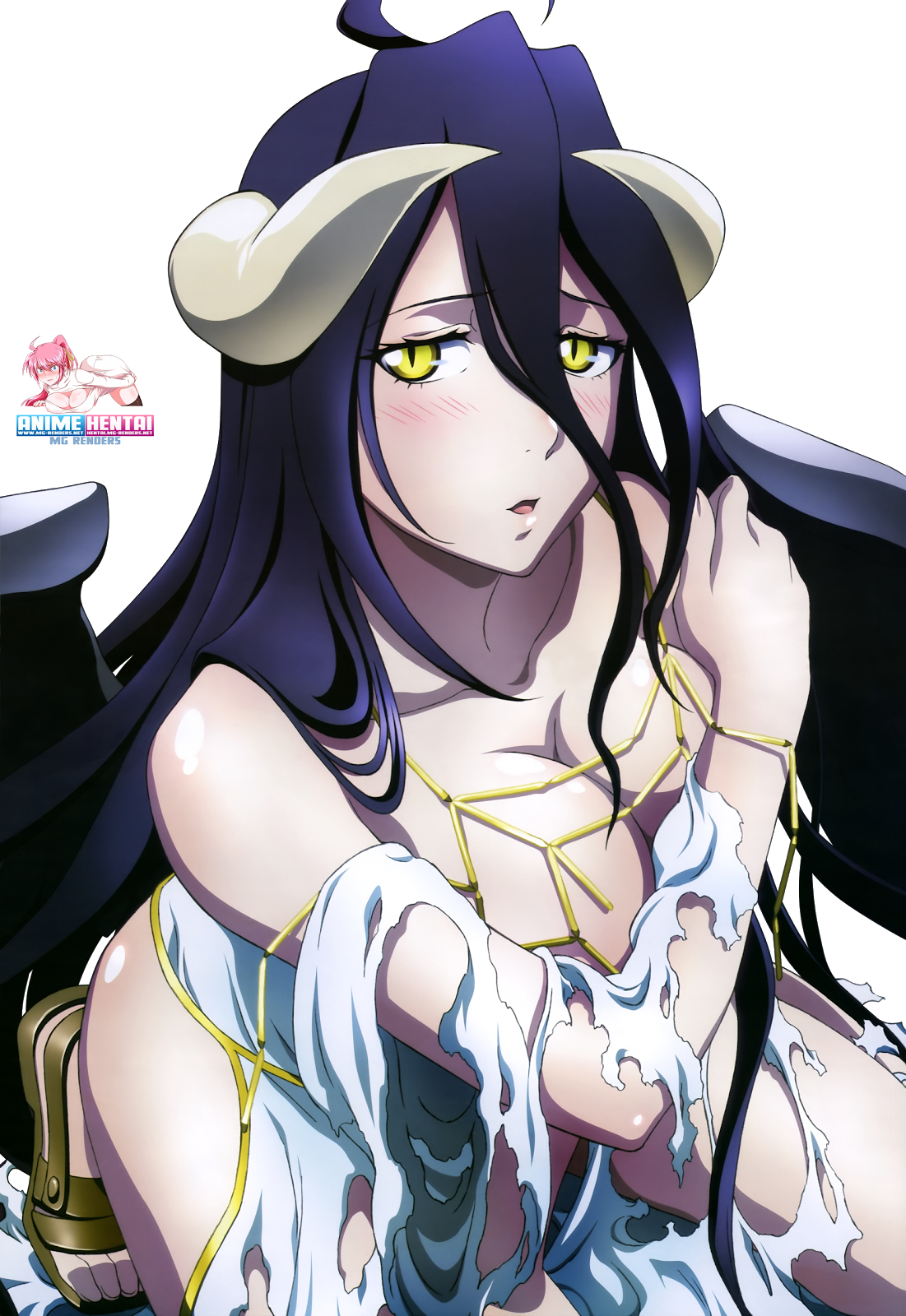 Tags: Anime, Render,  Albedo,  Overlord,  PNG, Image, Picture