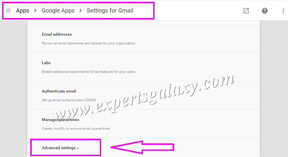 Google Apps Advanced Gmail Settings