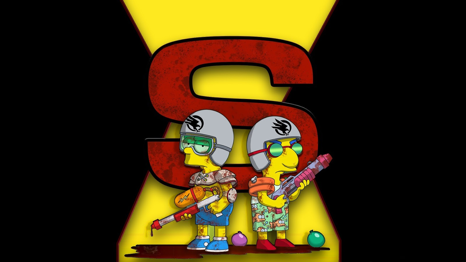Bart and Millhouse Simpsons