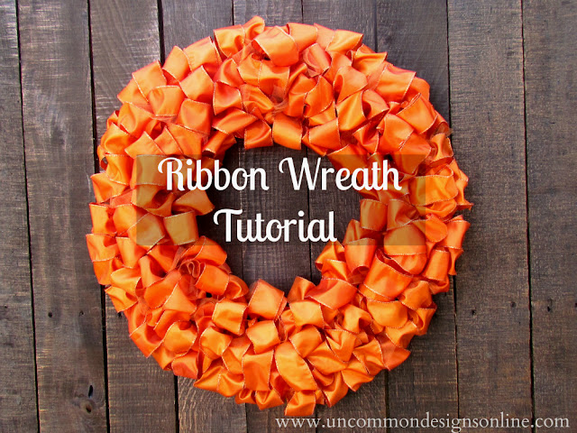 ribbon wreath tutorial