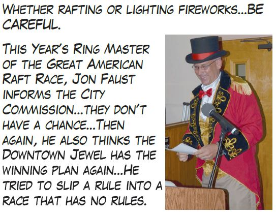Countdown: 16 Days until July 4th Parade & Raft Race. Click image: