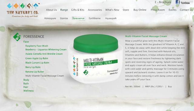 The Nature's Co: Multi-Vitamin Facial Massage Cream Review