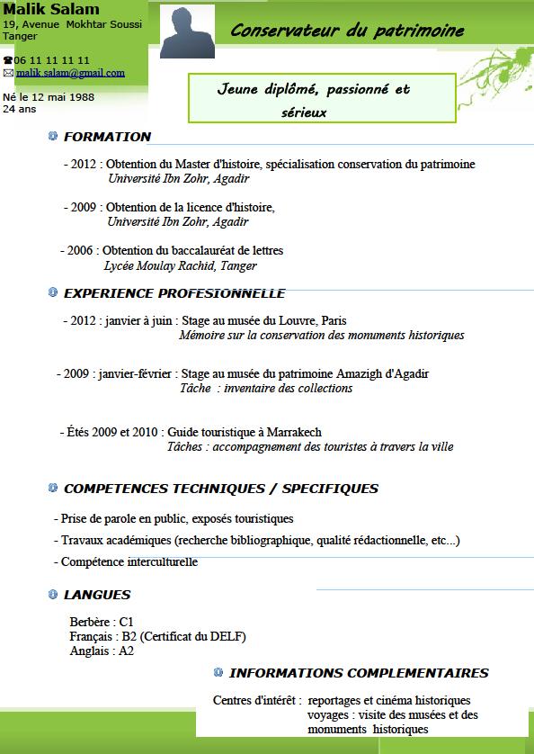 modele cv traducteur