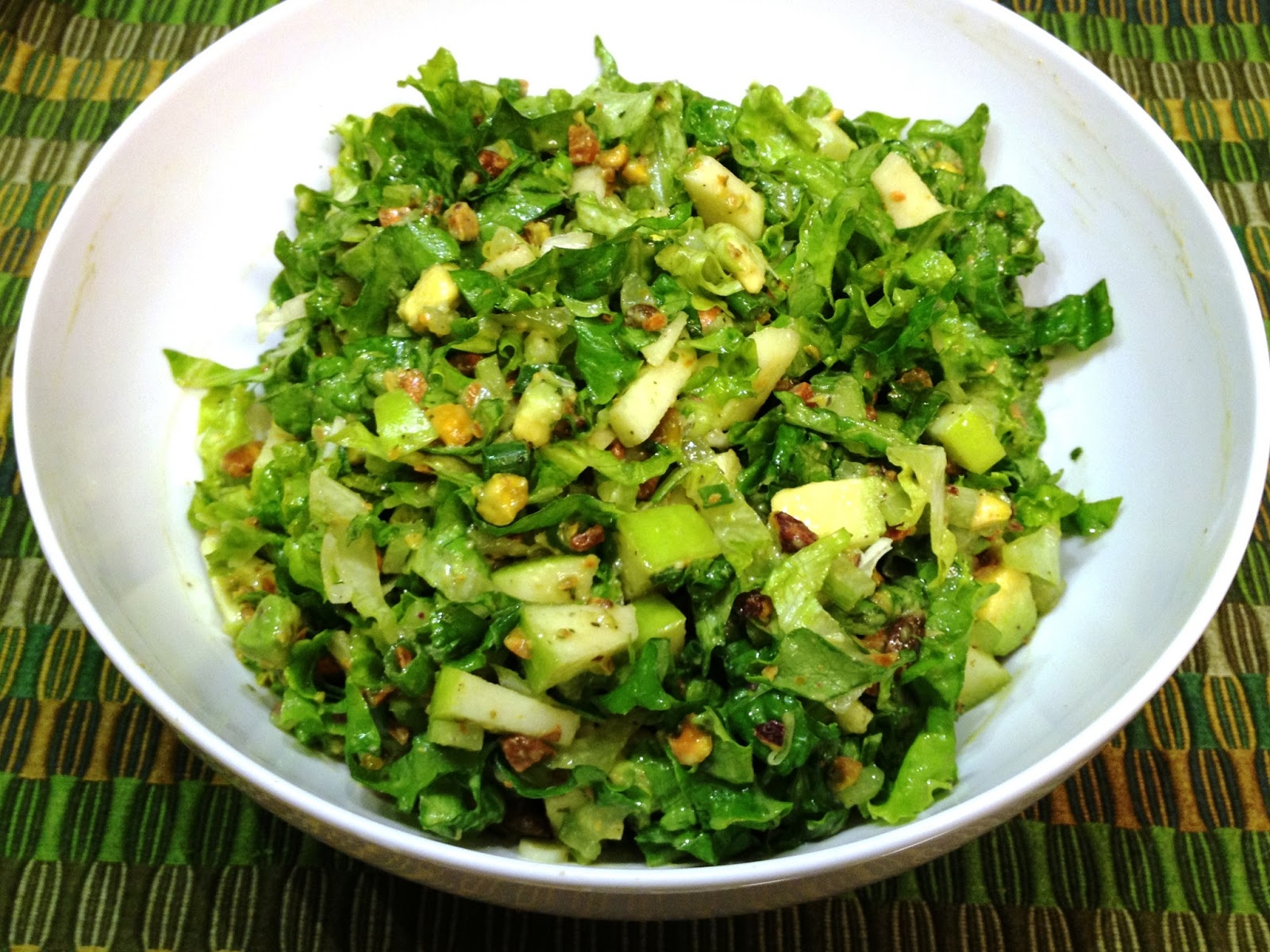 The Sensitive Epicure: Green On Green Chopped Salad