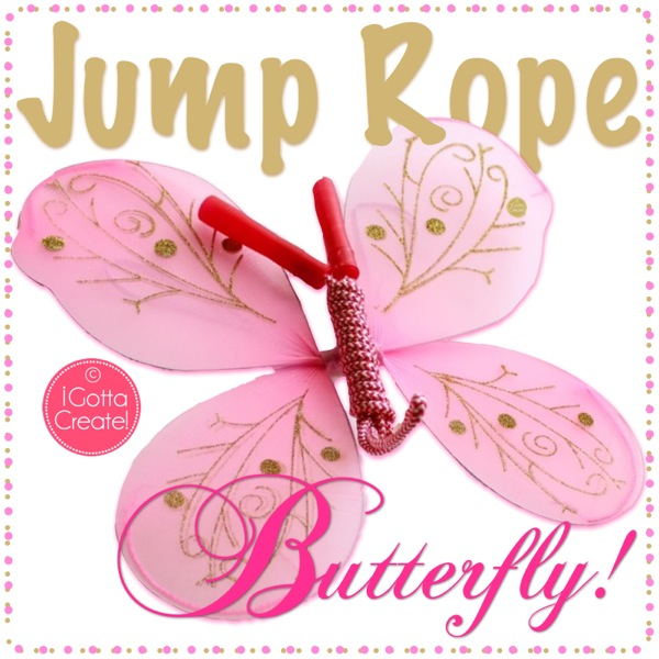 Jump Rope & Fairy Wing DIY Butterflies. Tutorial at I Gotta Create!