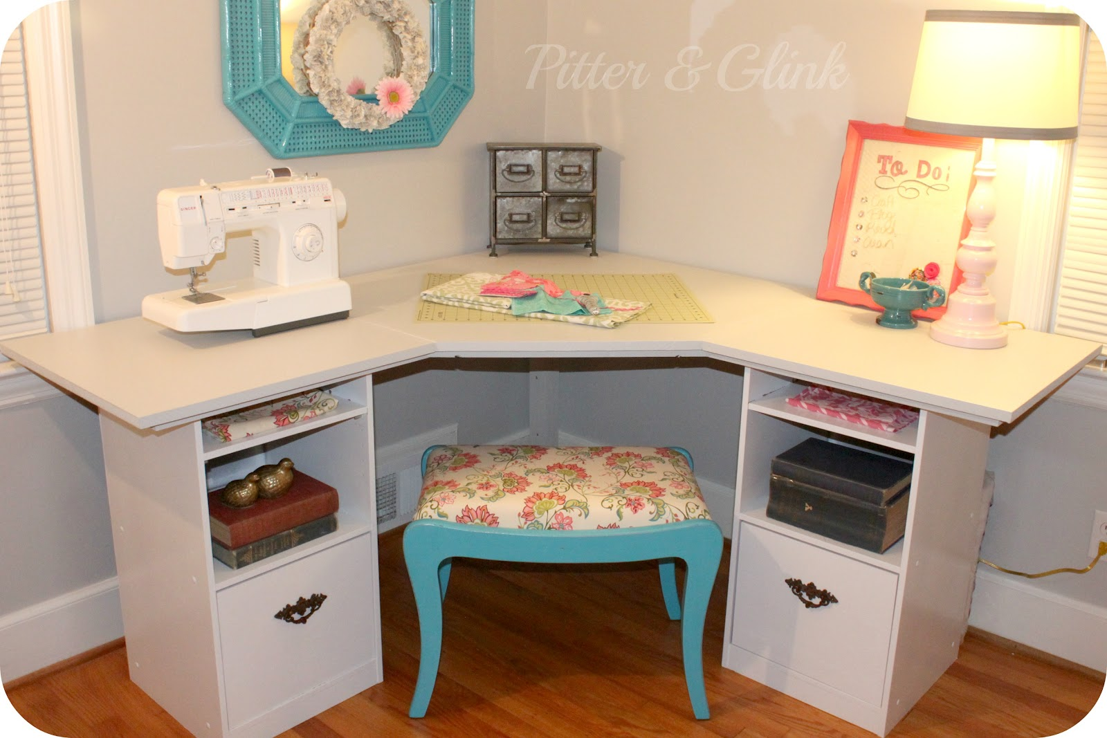 PitterAndGlink: {Craft Room Corner Desk