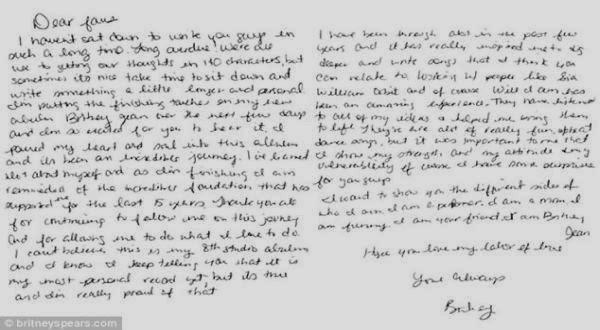 Surat Britney Spears