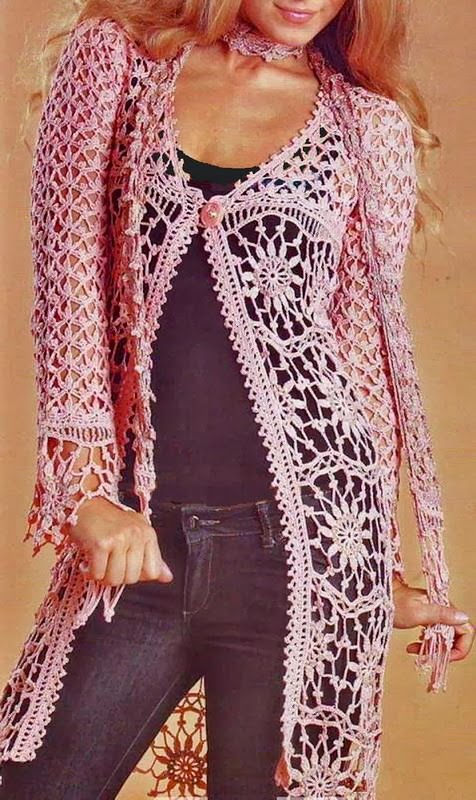Crochet Cardigan Pattern - Gorgeous Womens Lace Cardigan