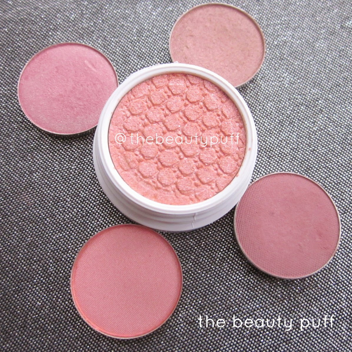 pink eyeshadows - the beauty puff