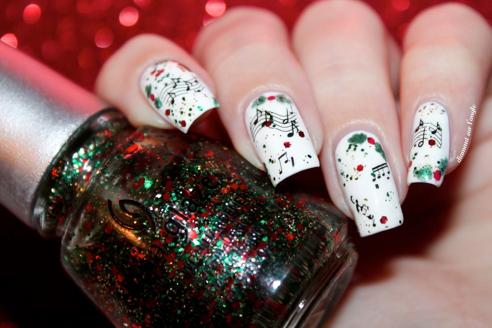♬ A Christmas Carols Nail Art ♬