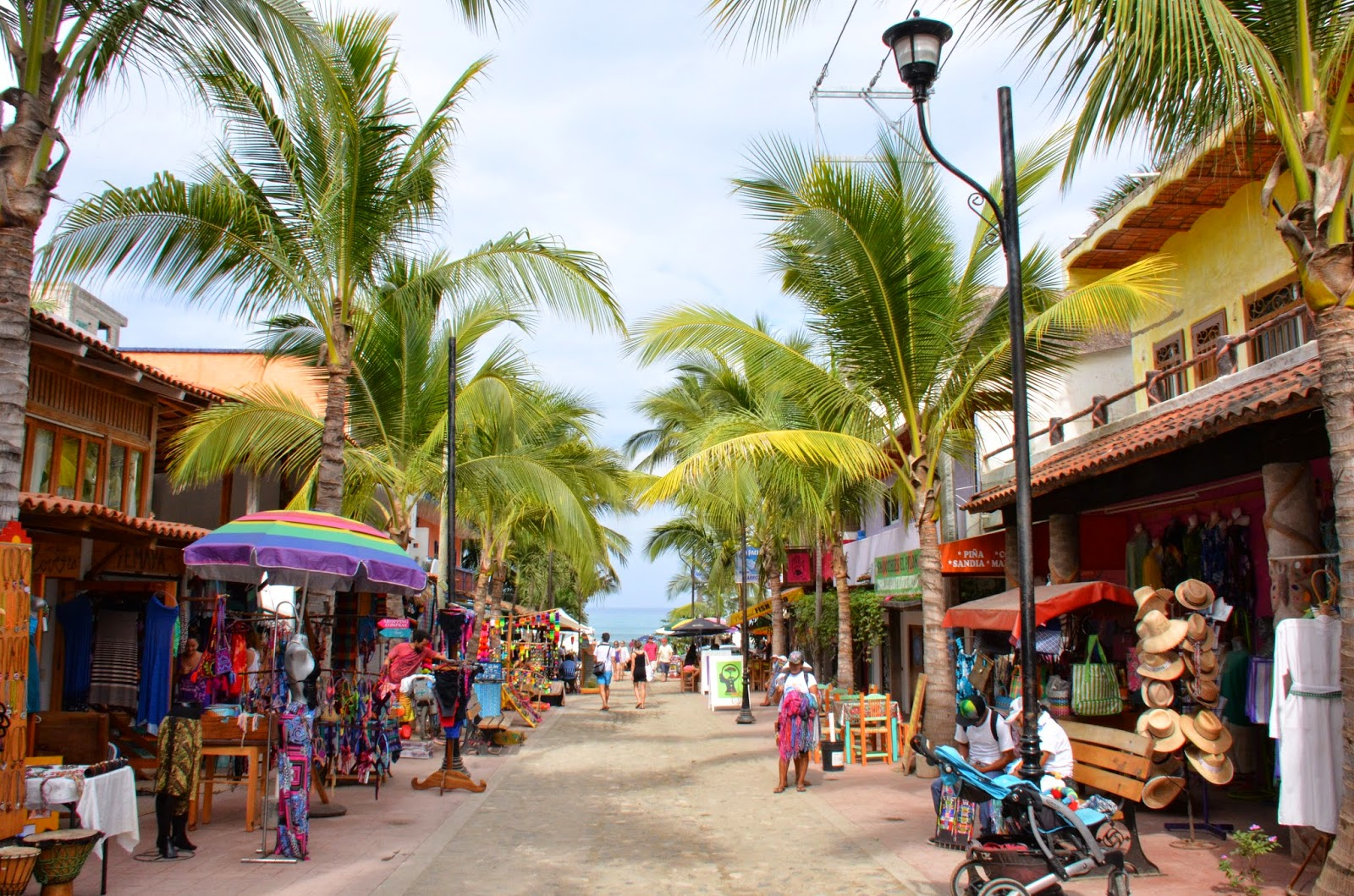 This is sayulita a tiny town about 45 minutes out of puerto vallarta