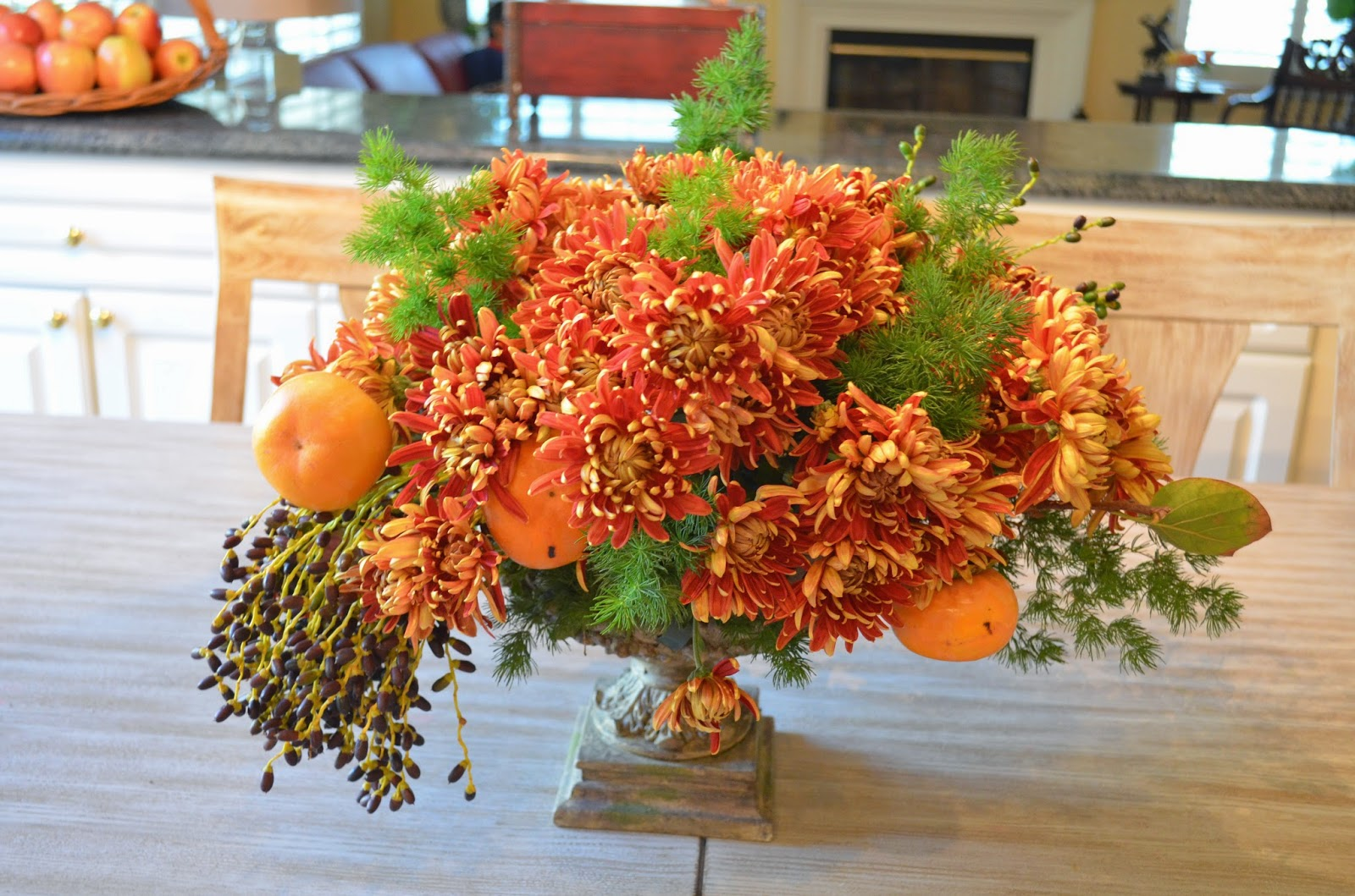 Entertaining from an ethnic indian kitchen fall flower Fall floral arrangements