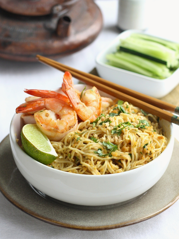 ... Spice - an Asian Spice Shop: Spicy Peanut Noodles with Garlicky Shrimp