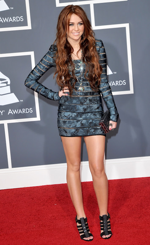 Red Carpet Dresses: Miley Cyrus - Grammy Awards 2010 Miley Cyrus Grammys 2013
