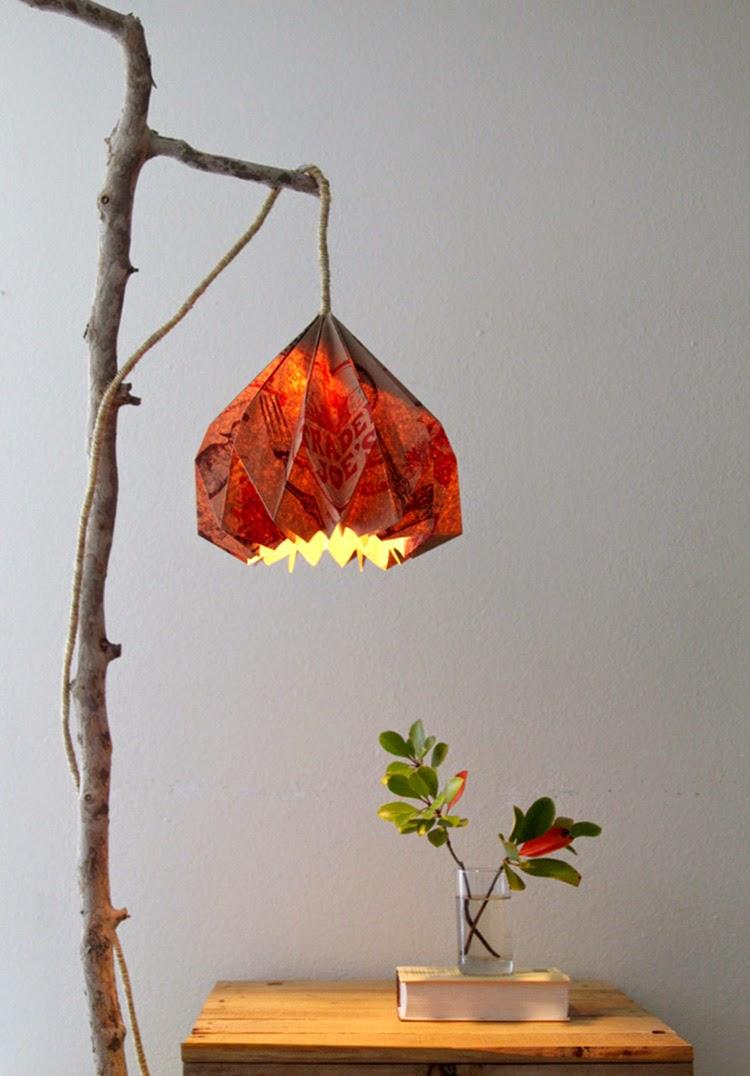 Diy monday origami ohoh blog for Diy wall lamp shade