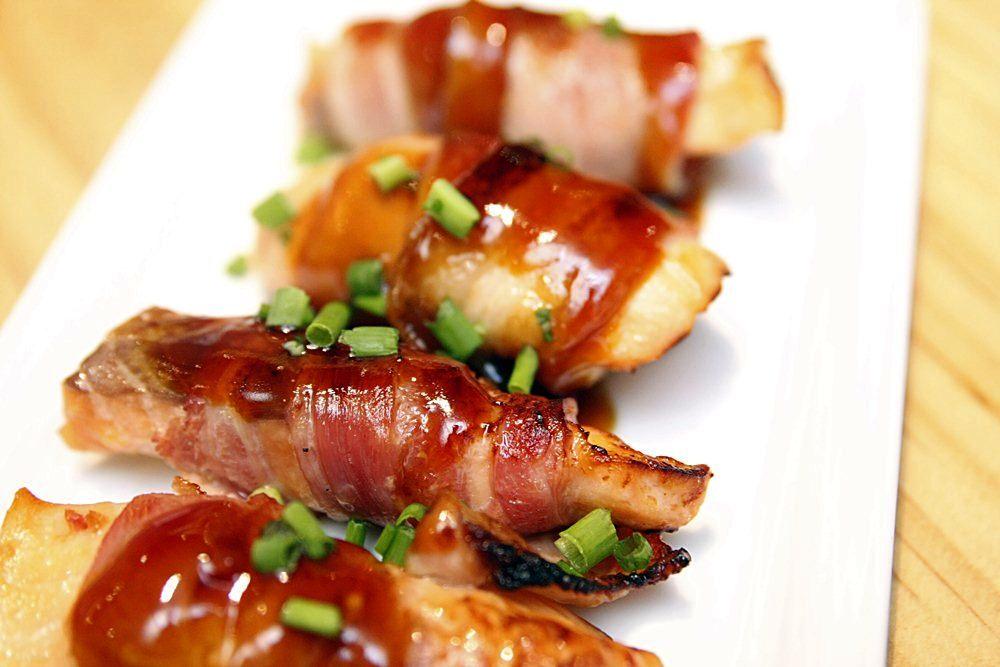 Osaka Ohsho's Teppanyaki Festival salmon bacon
