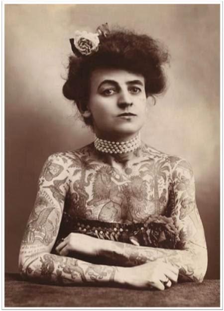 Nora Hildebrandt-freak show - circus-tattoo