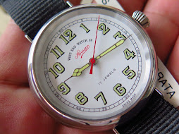 WEST END WATCH SOWAR MILITARY WHITE DIAL BIG SIZE 41mm - STAINLESS STEEL EDGE HANDS PART A - MANUAL