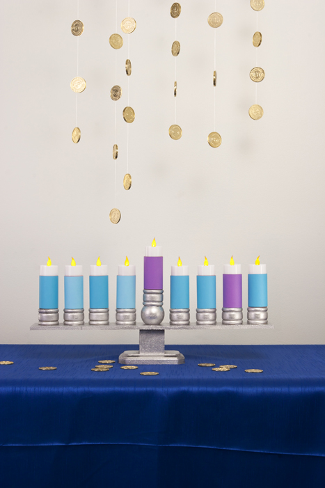 Hanukkah DIY menorah for kids