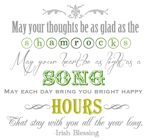 Printable Irish Blessing
