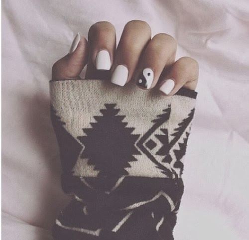 Yin Yang Designs On Nails