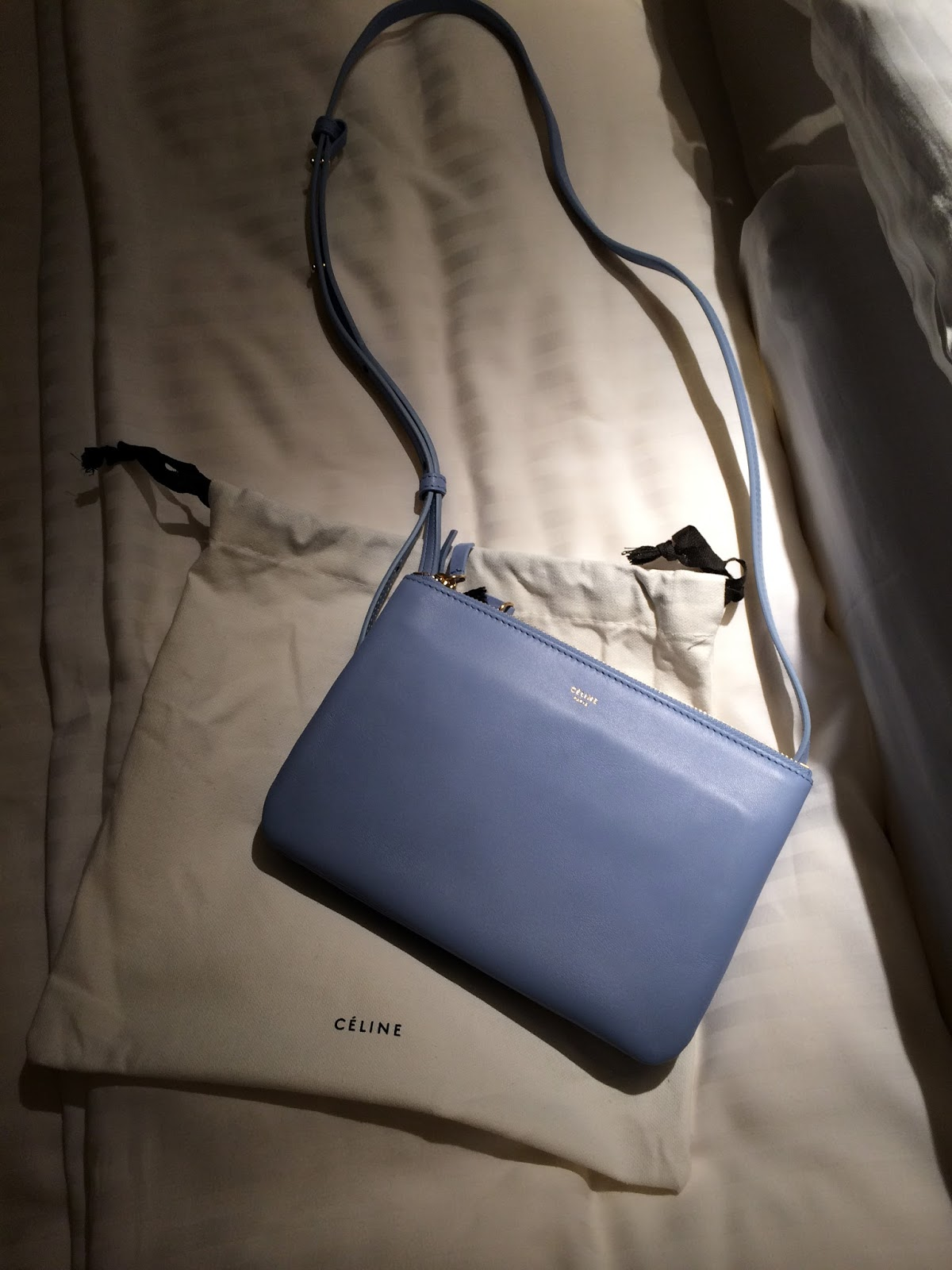 celine little white bag