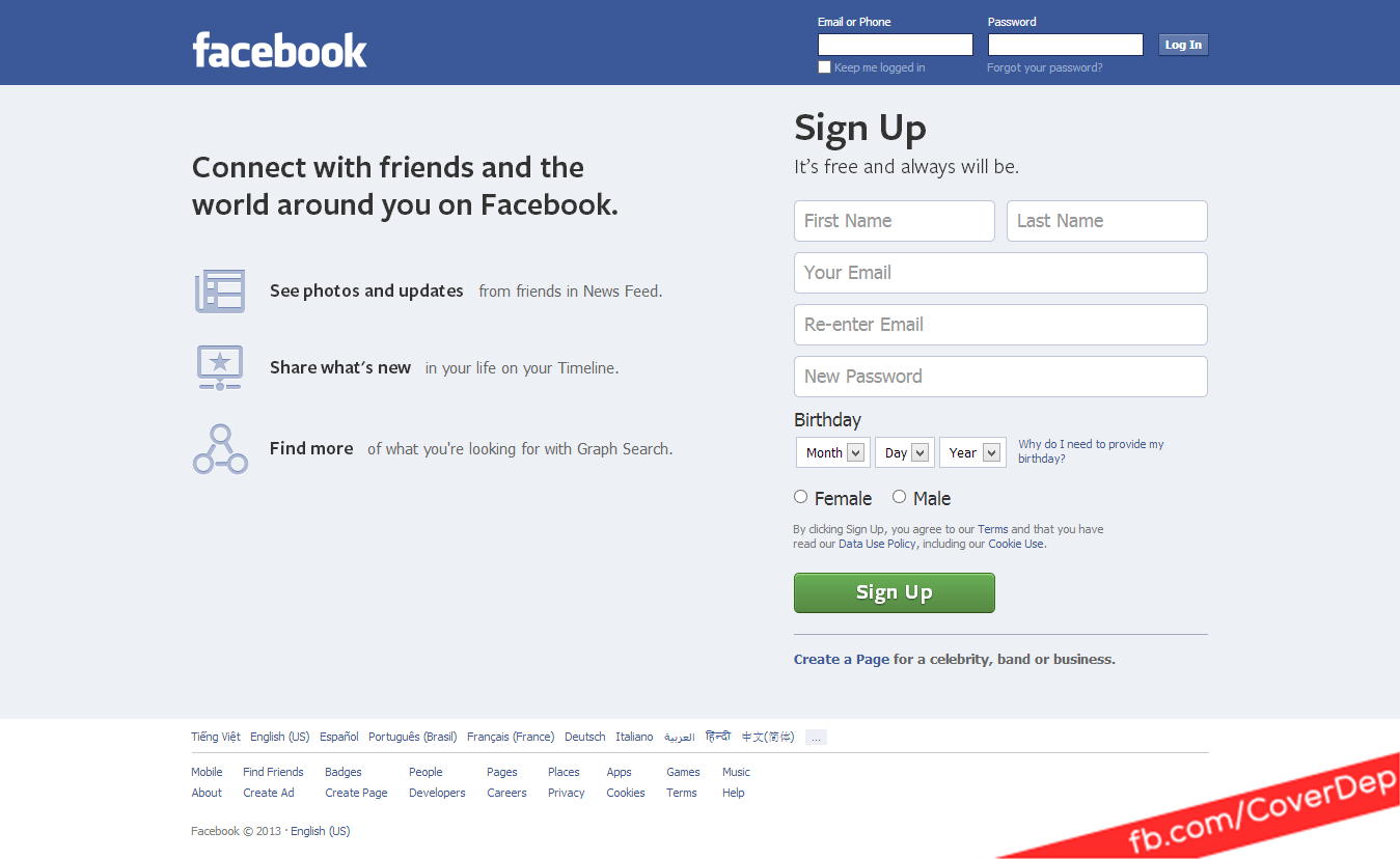 facebook sign in facebook login page - bing