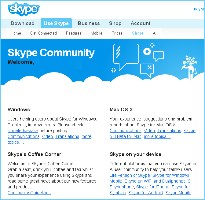 Skype community