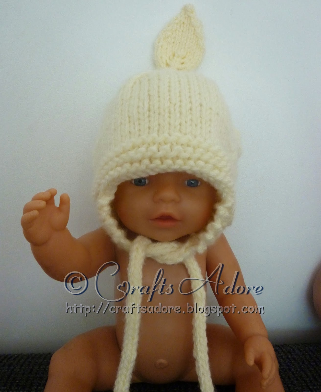 Knitted Baby Hat - Unisex Gnomey Baby Hat
