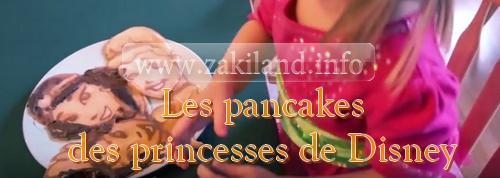 Les pancakes des princesses de Disney