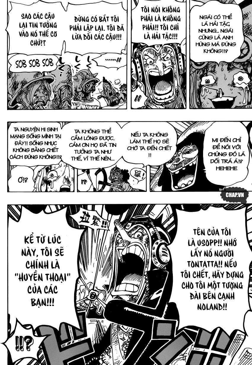 One Piece Chapter 741: Thần gió Usoland 012
